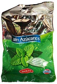 Dolis Caramelo sin azúcar mentol eucaliptus Paquete 90 g