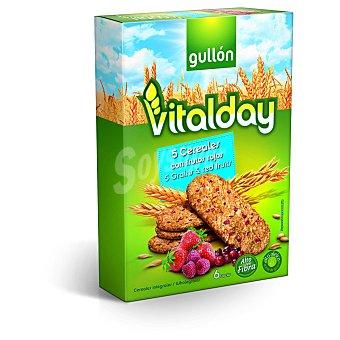 Gullón Vitalday galletas 5 cereales con frutos rojos caja 240 gr Caja 240 gr