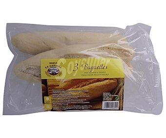 HORNO LA GAÑANIA Baguettes cocidas 3 unidades de 345 g