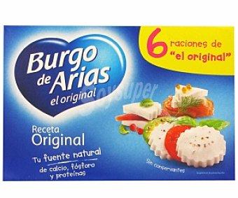 Burgo de Arias Queso fresco natural 6 Unidades de 62,5 Gramos