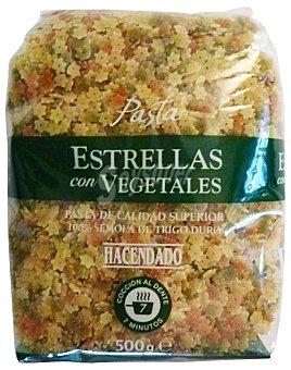 Hacendado Estrellas vegetales pasta Paquete 500 g