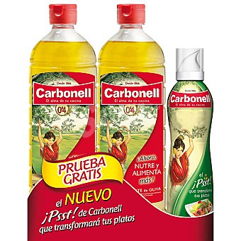 Carbonell Aceite de oliva suave 0,4 Pack 2 botellas 1 l + spray Pack 2 botellas 1 l