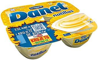 Danet Danone Natillas vainilla 4x125g