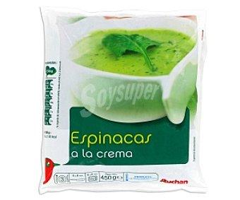 Auchan Espinacas a la Crema 450 Gramos