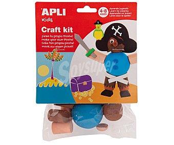 APLI Bolsa con piezas de goma eva, que al juntarlas dan como resultado un pirata. Edad recomendada de 4 a 8 años 1 unidad