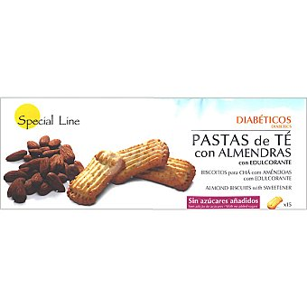 Special Line pastas de té con almendras con edulcorante sin azúcares añadidos envase 205 g 15 unidades