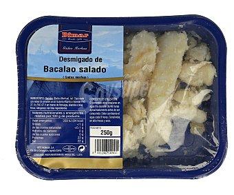 Dimar Bacalao desmigado salado Bandeja de 250 gramos