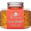 Sal en escamas con azafrán Frasco 120 g La Chinata