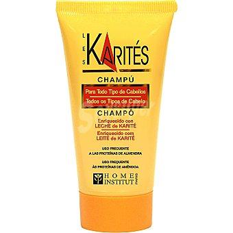 Les karites Champú enriquecido con Leche de Karité para todo tipo de cabello Tubo 50 ml