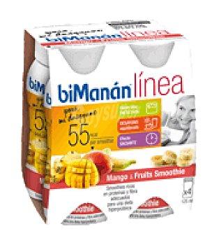 Bimanan Mango smooothie Pack de 4x125 g