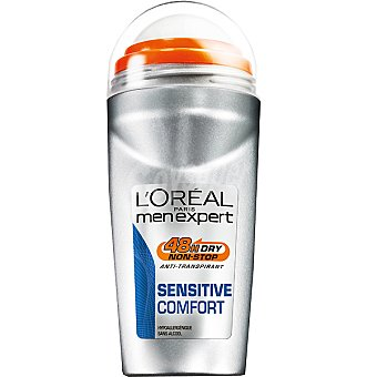 Men Expert L'Oréal Paris Desodorante roll-on Sensitive Comfort anti-transpirante Envase 50 ml