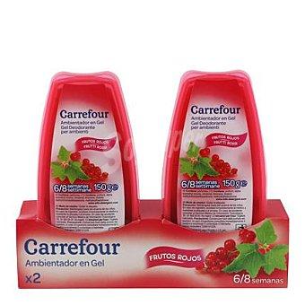 Carrefour Ambientador absorbeolores en gel frutos rojos 2 ud
