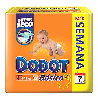 Dodot Básico Pañal Dodot Básico T4 (9-15 Kg.) Pack semanal 30 ud