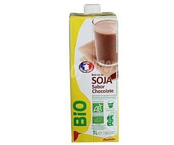 Auchan Bebida de Soja Sabor Chocolate Ecólogico 1L