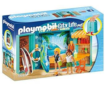 Playmobil Escenario de juego Tienda de surf en cofre, City life 5641 playmobil
