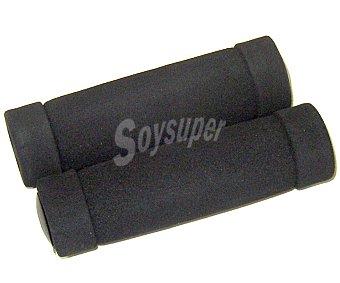 Auchan Lote de 2 puños fabricados en espuma de color negro, compatibles con todo tipo de manillares 1 Unidad