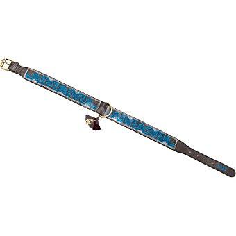 It maclaud Collar para perro bordado azul talla 1 1 unidad