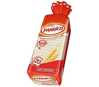 Panrico pan de molde s/corteza blanco 450 gr