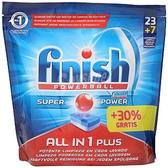 Finish Pastilla lavavajillas todo en uno Bolsa 30 pastillas (23 + 7 gratis)