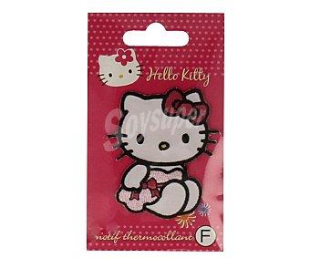 STYLE Parche termoadhesivo color rosa, diseño de Hello Kitty