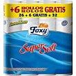 Higienico Paquete 26+6 rollos Foxy