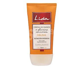 Lida Crema de manos de glicerina-aloe Tubo 75 ml