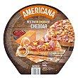 Pizza congelada americana rellena de queso cheddar Unidad 540 g Hacendado