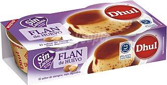 Dhul Flan de huevo sin lactosa Pack 2 unidades 110 g