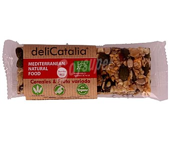 Delicatalia Cereales en barrita y fruta variada procedentes de agricultura ecológica 50 g