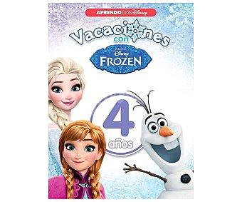 Disney Vacaciones con Frozen 4 años, cuaderno de actividades, VV.AA. Editorial Disney. Descuento ya incluido en PVP. PVP anterior: 4 años
