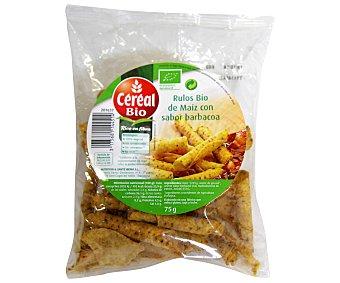 CEREAL BIO Rulos de maíz sabor barbacoa 75 gramos