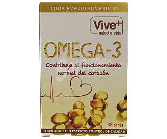 Vive+ Perlas de omega 3 vive plus 48 uds