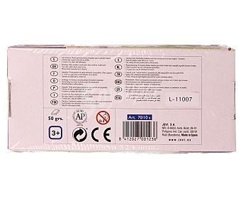 Jovi Caja de 10 pastillas de 50 gramos de plastilina de diferentes colores 1 unidad