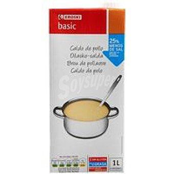 Eroski Basic Caldo de pollo Brik 1 litro