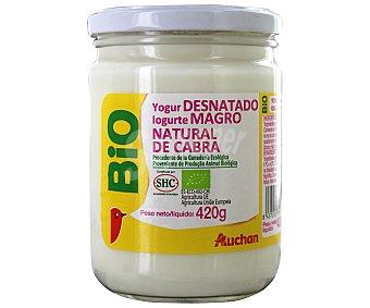 Auchan Yogur natural de cabra desnatado ecológico 420 gramos