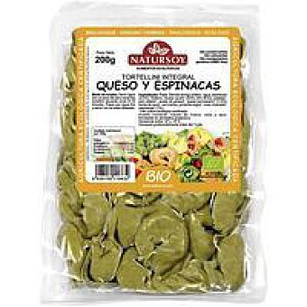 Natursoy Tortellini integral-queso-espinacas Bandeja 250 g