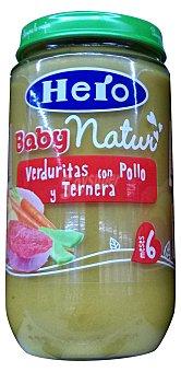 HERO BABY TARRITO VERDURITAS CON POLLO  Y TERNERA A PARTIR DE 6 MESES (BABY NATUR) TARRO 235 g