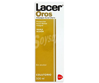 Lacer Enjuague bucal , protección buco-dental integral 500 mililitros