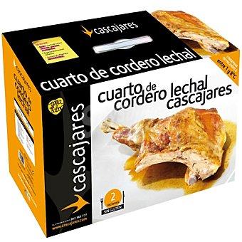 CASCAJARES 1/4 de cordero asado 2 raciones Envase 1200 g
