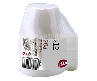 ACTUEL Tazas de café desechables fabricadas en plástico blanco, 0,2 litros de capacidad 12 unidades