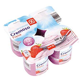 DIA DIA yogur cremoso 0% fresa  pack 4 unidades 125 gr