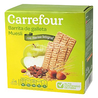 Carrefour Galleta de barritas muesli 210 g