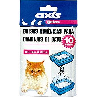 BIOZOO AXIS Bolsas higienicas para las bandejas del gato talla unica paquete 10 unidades Paquete 10 unidades
