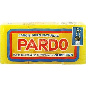 Pardo Jabón para lavar a mano puro natural Envase 3 pastillas