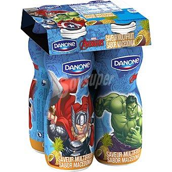 DANONE Yogur líquido sabor macedonia  4 unidades de 160 g