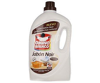 Omino Bianco Detergente líquido para la ropa con jabón Noir, ideal para prendas blancas y de color 38 lavados