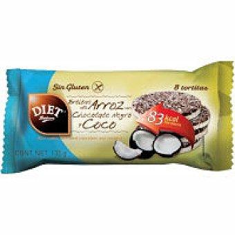 Diet Rádisson Tortitas de arroz con chocolate negro Paquete 135 g