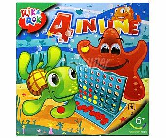 Rik&Rok Auchan Juego de Mesa, 4 En Línea, 2 Jugadores 1 Unidad
