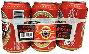 STARK Cerveza rubia especial 6 latas de 33 cl