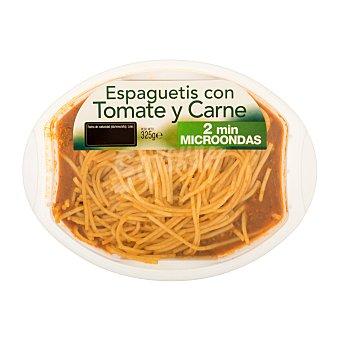 Platos tradicionales Comida preparada spaguetti con tomate y carne Bandeja 325 g